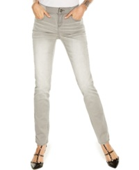 Inc International Concepts Petite Elastic Waist Skinny Jeans Grey Thunder Wash