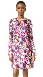 Nina Ricci Blurred Floral Dress Pink