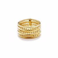 Agnes De Verneuil Gold Seven Band Ring Line And Pearl