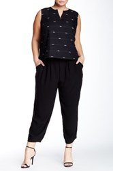 Eileen Fisher Silk Slouchy Pant Plus Size Black