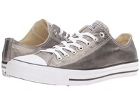 Converse Chuck Taylor All Star Metallic Canvas Ox Metallic Herbal White Black Athletic Shoes Gray