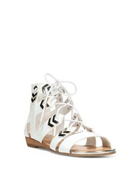 Fergie Trisha Gladiator Sandals White