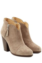 Rag And Bone Suede Ankle Boots Beige