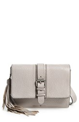 Treasure And Bond Small Leather Messenger Bag Grey Grey Opal