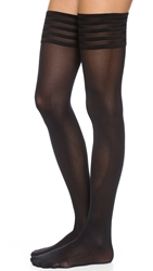 Wolford Velvet De Luxe 50 Stay Up Tights Black