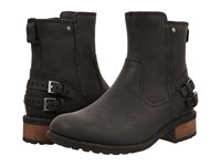 Ugg Orion Black Leather Women's Zip Boots