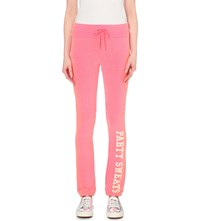 Wildfox Couture Party Sweats Jersey Jogging Bottoms Party Girl