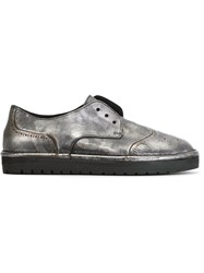 Marsell Marsell Laceless Brogues Metallic