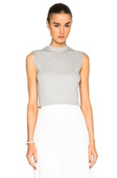 Nomia Cropped Mock Muscle Tee In Gray