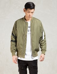 Green Strapped Bomber Jacket