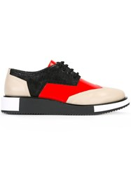 United Nude 'Geo Wing' Derby Shoes Red
