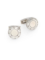 Colibri Stainless Steel Screw Cuff Links Silver