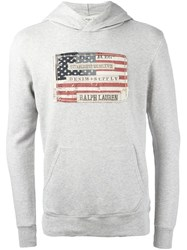 Polo Ralph Lauren Flag Patch Hoodie Grey