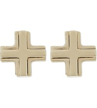 Givenchy Cross Magnetic Earrings Silver