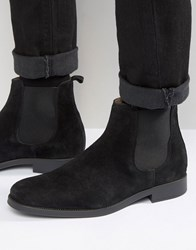 Selected Homme Oliver Suede Chelsea Boots Black