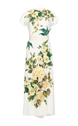 Dolce And Gabbana Short Sleeve Floral Print Dress