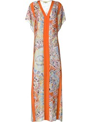 Emilio Pucci Geometric Print Maxi Dress