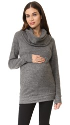 Ingrid And Isabel Cowl Neck Maternity Sweatshirt Grey Heather