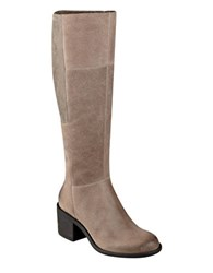 Easy Spirit Italis Suede Knee High Boots Taupe