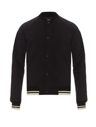 A.P.C. Teddy Seven Cotton And Wool Blend Bomber Jacket Navy