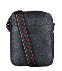 Paul Smith Accessories City Webbing Mini Leather Messenger Bag Unisex Black