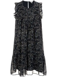 Joie Floral Shift Dress Black
