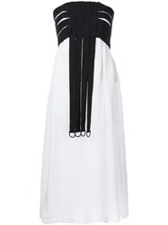 Kitx Weave Strapless Dress White