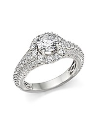 Bloomingdale's Certified Diamond Halo Ring In 14K White Gold 2.20 Ct. T.W.