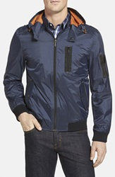 Rainforest Flight Jacket With Detachable Hood Midnight