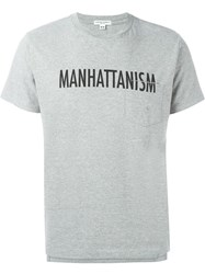 Engineered Garments Manhattanism Print T Shirt Grey