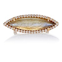 Irene Neuwirth Women's Marquise Faced Ring No Color