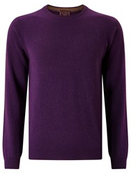 John Lewis Made In Italy Cashmere Crew Neck Jumper Purple