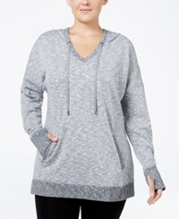 Ideology Plus Size Hooded Tunic Only At Macy's Heather Grey