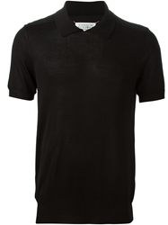 Maison Margiela Fine Knit Polo Shirt Black