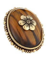 Stephen Dweck Tigers Eye Flower Ring 6