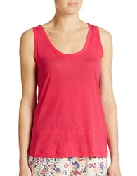 French Connection Polly Plains Tank Top Passion Pink
