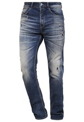 Desigual Slim Fit Jeans Denim Medium Wash Destroyed Denim