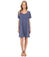Fresh Produce Pinstripe Allure T Shirt Dress Moonlight Blue Women's Dress