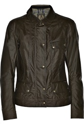 Belstaff Colby Waxed Cotton Jacket Green