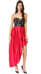 Moschino Strapless Dress Red