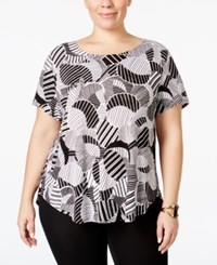 Alfani Plus Size Printed T Shirt Only At Macy's Circles