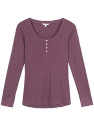 Fat Face Maizey Pointelle Long Sleeve T Shirt Fig