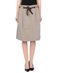 Gaudi' Knee Length Skirts Grey