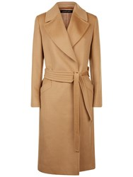 Jaeger Wool Wrap Coat Camel