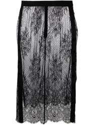 Steve J And Yoni P Lace Detail Skirt Black