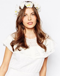 Aldo Cangelosi Flower Hair Garland White