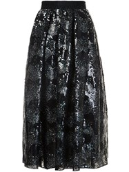 Marc Jacobs Sequinned Midi Skirt Black