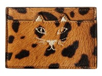Charlotte Olympia Feline Card Holder Hyena Credit Card Wallet Brown