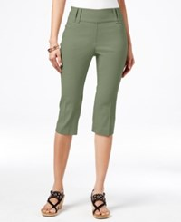 Styleandco. Style Co. Pull On Cropped Capris Only At Macy's Olive Sprig