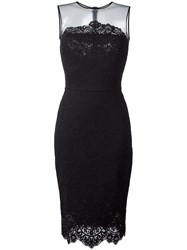 Ermanno Scervino Lace Applique Mid Dress Black